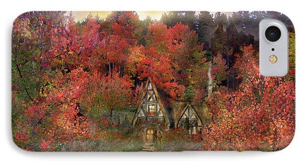 Autumn Hideaway IPhone Case by Carol Cavalaris