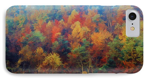 IPhone Case featuring the photograph Autumn Hill Aglow by Diane Alexander