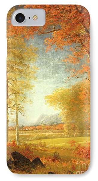 Autumn In America IPhone Case by Albert Bierstadt
