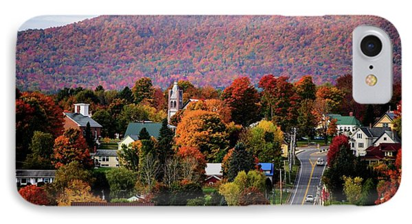 Autumn In Danville Vermont IPhone Case by Sherman Perry