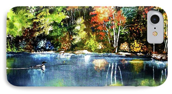 Autumn In Loon Country IPhone Case