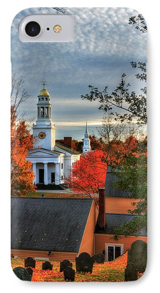 Autumn In New England - Concord Ma IPhone Case by Joann Vitali