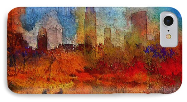 Autumn In New York IPhone Case by Ted Azriel
