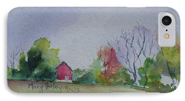 IPhone Case featuring the painting Autumn In Rural Ohio by Mary Haley-Rocks