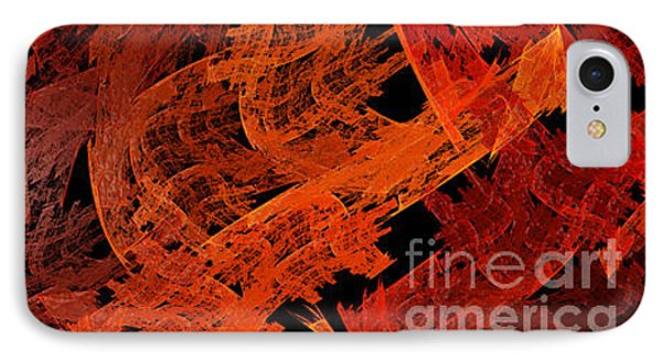 IPhone Case featuring the digital art Autumn In Space Abstract Pano 1 by Andee Design
