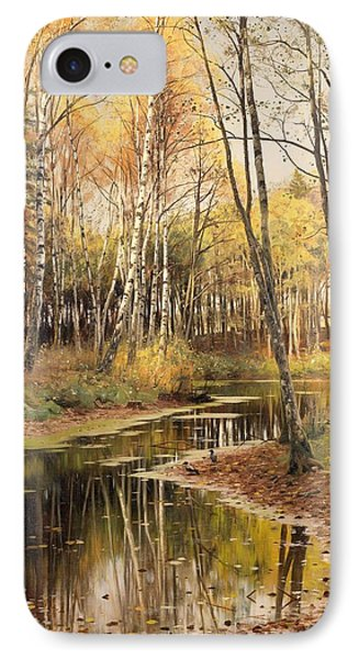 Autumn In The Birchwood IPhone Case