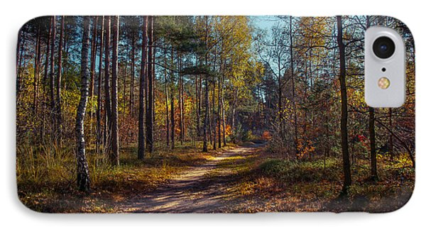 Autumn In The Woods IPhone Case by Dmytro Korol
