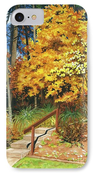 IPhone Case featuring the painting Autumn Invitation by Barbara Jewell