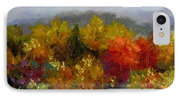 IPhone Case featuring the painting Autumn Jewels by Chris Brandley