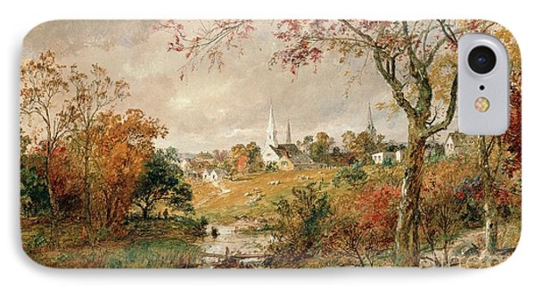 Autumn Landscape IPhone Case by Jasper Francis Cropsey