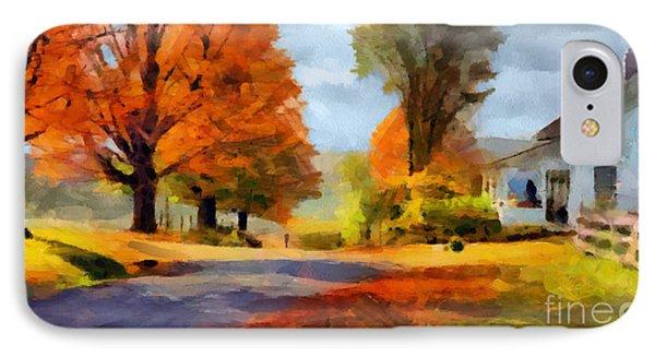 Autumn Landscape IPhone Case by Sergey Lukashin