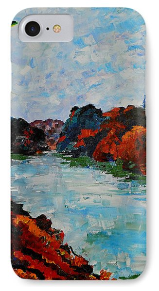 Autumn Landscape IPhone Case by Shirley Heyn
