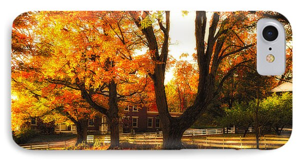 IPhone Case featuring the photograph Autumn Lane by Robert Clifford