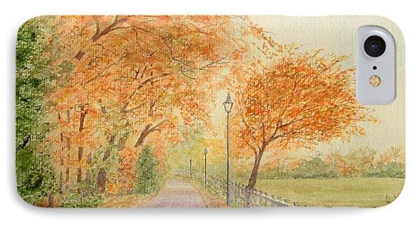 Autumn Lane - Royden Park, Wirral Phone Case by Peter Farrow