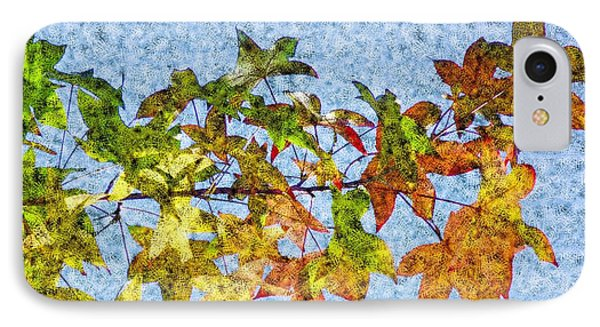 IPhone Case featuring the photograph Autumn Leaves 2 by Jean Bernard Roussilhe