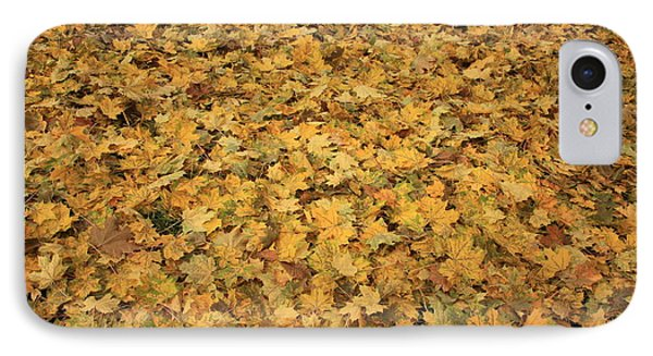 Autumn Leaves Canvas Phone Case by Carol Groenen
