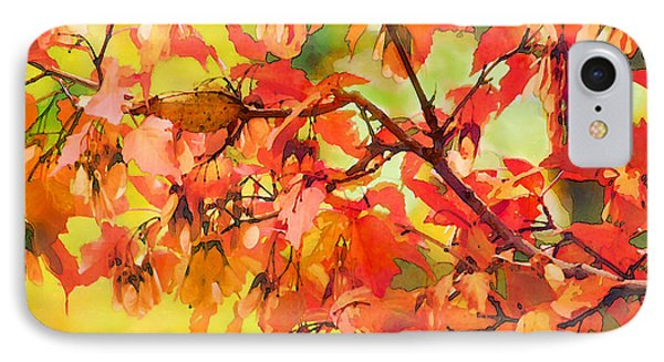 IPhone Case featuring the digital art Autumn Leaves by Christina Lihani