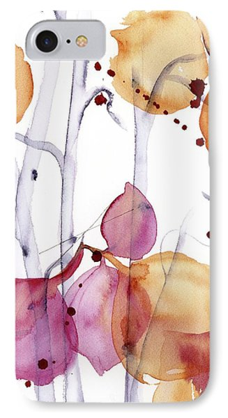 IPhone Case featuring the painting Autumn Leaves by Dawn Derman
