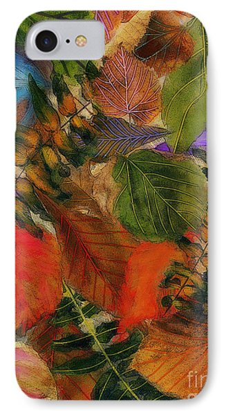 IPhone Case featuring the digital art Autumn Leaves by Klara Acel