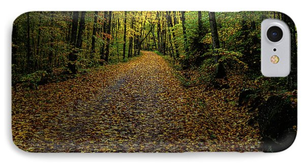 IPhone 7 Case featuring the photograph Autumn Leaves On The Trail by David Patterson
