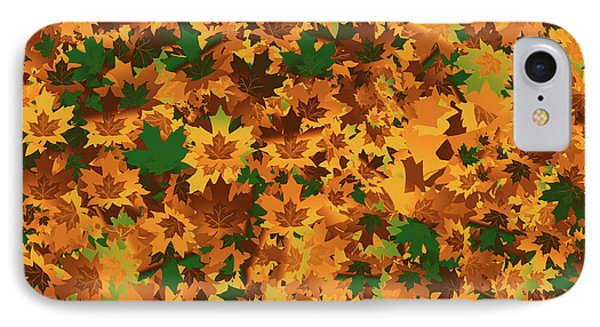 Autumn Leaves Pattern IPhone Case by Methune Hively