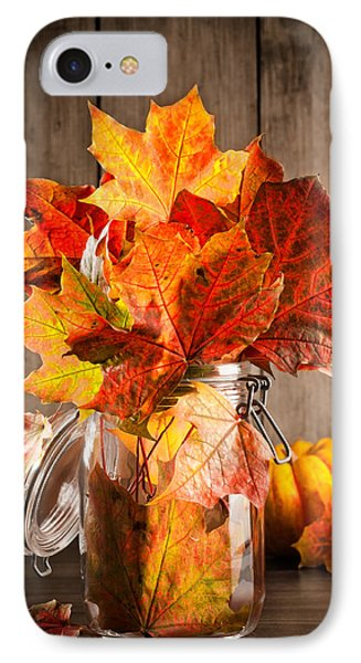 Autumn Leaves Still Life IPhone Case by Amanda Elwell
