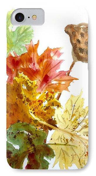 Autumn Leaves Still Life IPhone Case by Ellen Levinson