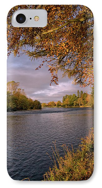 IPhone Case featuring the photograph Autumn Light By The River Ness by Jacqi Elmslie