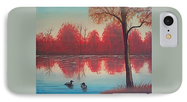 Autumn Loons IPhone Case by Brenda Bonfield
