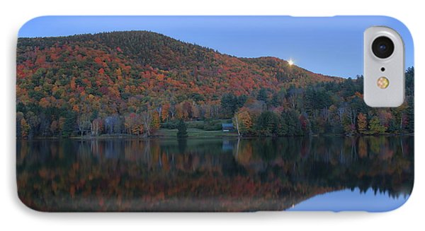 Autumn Moonrise In The Green Mountains IPhone Case by John Burk