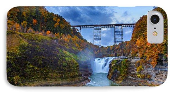 Autumn Morning At Upper Falls IPhone Case
