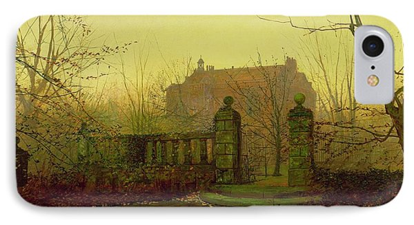 Autumn Morning IPhone Case by John Atkinson Grimshaw