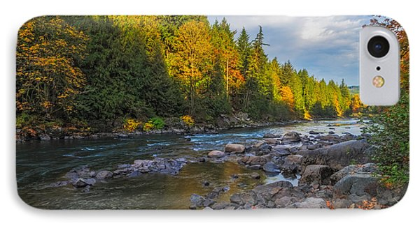 Autumn Morning Light On The Snoqualmie IPhone Case