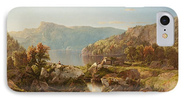 Autumn Morning On The Potomac IPhone Case by William Sonntag
