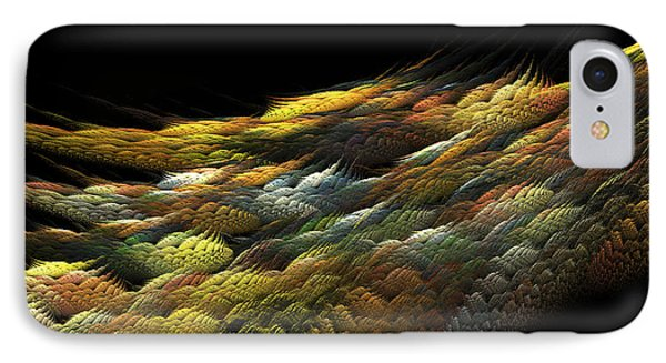 IPhone Case featuring the digital art Autumn Nightfall by Richard Ortolano