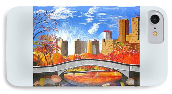 IPhone Case featuring the painting Autumn Oasis by Donna Blossom