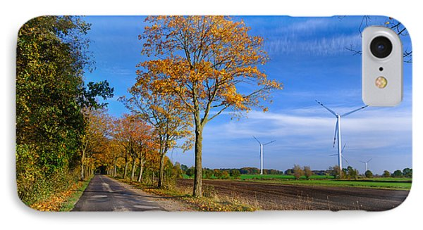 Autumn On A Back Road IPhone Case by Dmytro Korol