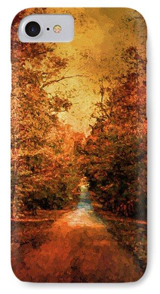 Autumn On Calvary Road Landscape Art IPhone Case