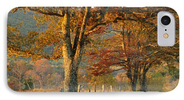 Autumn On Sparks Lane IPhone Case by TnBackroadsPhotos