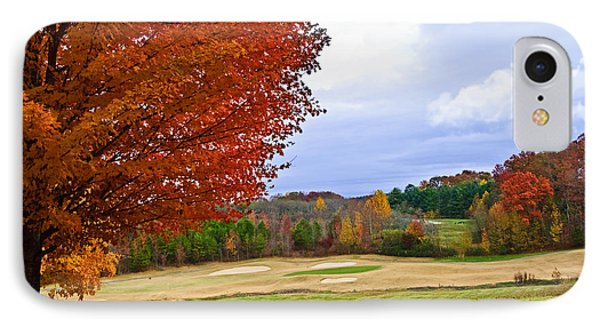 Autumn On The Golf Course IPhone Case by Susan Leggett