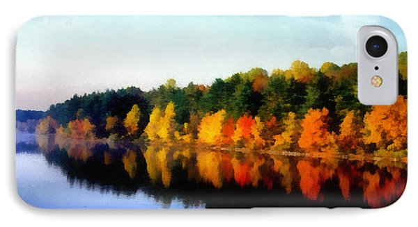 IPhone Case featuring the photograph Autumn On The Lake by Joseph Frank Baraba