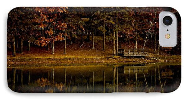 Autumn On The Lake IPhone Case by Linda Unger
