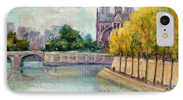 Autumn On The Seine IPhone Case