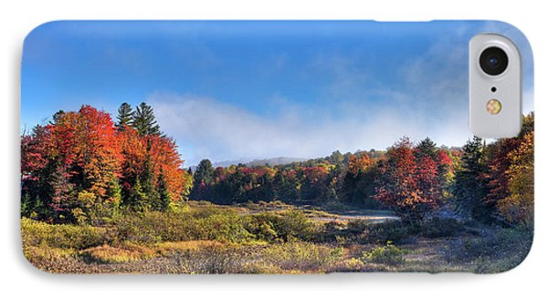 IPhone 7 Case featuring the photograph Autumn Panorama At The Green Bridge by David Patterson