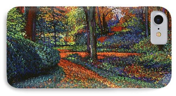 Autumn Park IPhone Case by David Lloyd Glover