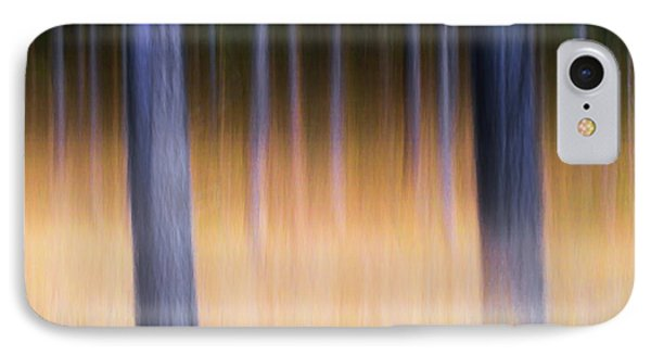 IPhone Case featuring the photograph Autumn Pine Forest Abstract by Dirk Ercken