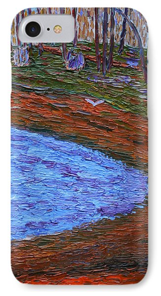 Autumn Pond IPhone Case by Vadim Levin