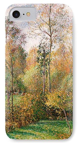 Autumn Poplars, Eragny IPhone Case by Camille Pissarro