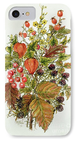 Autumn Posy IPhone Case by Nell Hill