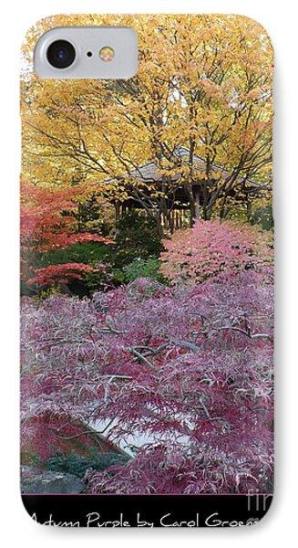 Autumn Purple Phone Case by Carol Groenen
